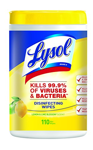 Lysol Disinfecting Wipes, Lemon & Lime Blossom, 110ct