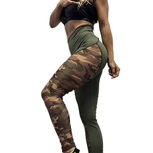 50bf195fc6d80 Women Yoga Pants Skinny High Waist Camouflage Athletic Leggings for Workout  Sports (XL, Camouflage