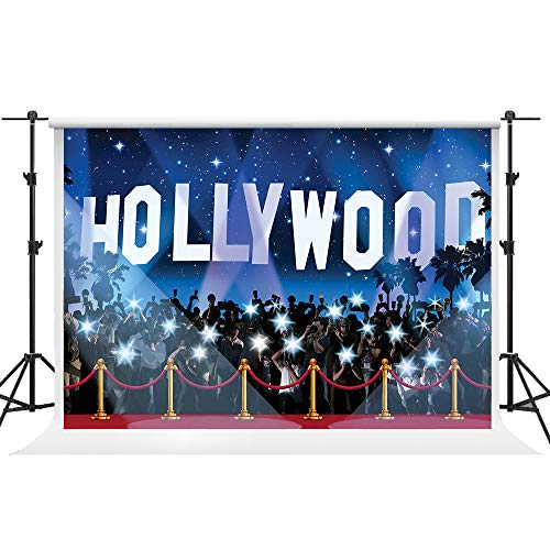 GESEN 10X7ft Hollywood Flash Red Carpet Seamless Vinyl Photography Backdrop Photo Background Studio Props GESEN10 (Red Hollywood Carpet Fashion)