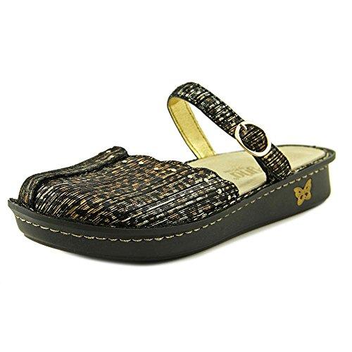 Alegria Women's Leather Mary Jane Flats Tuscany Leopard Stripe EU 38 Wide