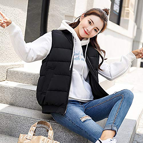 Donna Cappott Colore 02 Caldo Dazisen Solido Mantieni Gilet Giacche Stile Smanicato q7wn5E5I