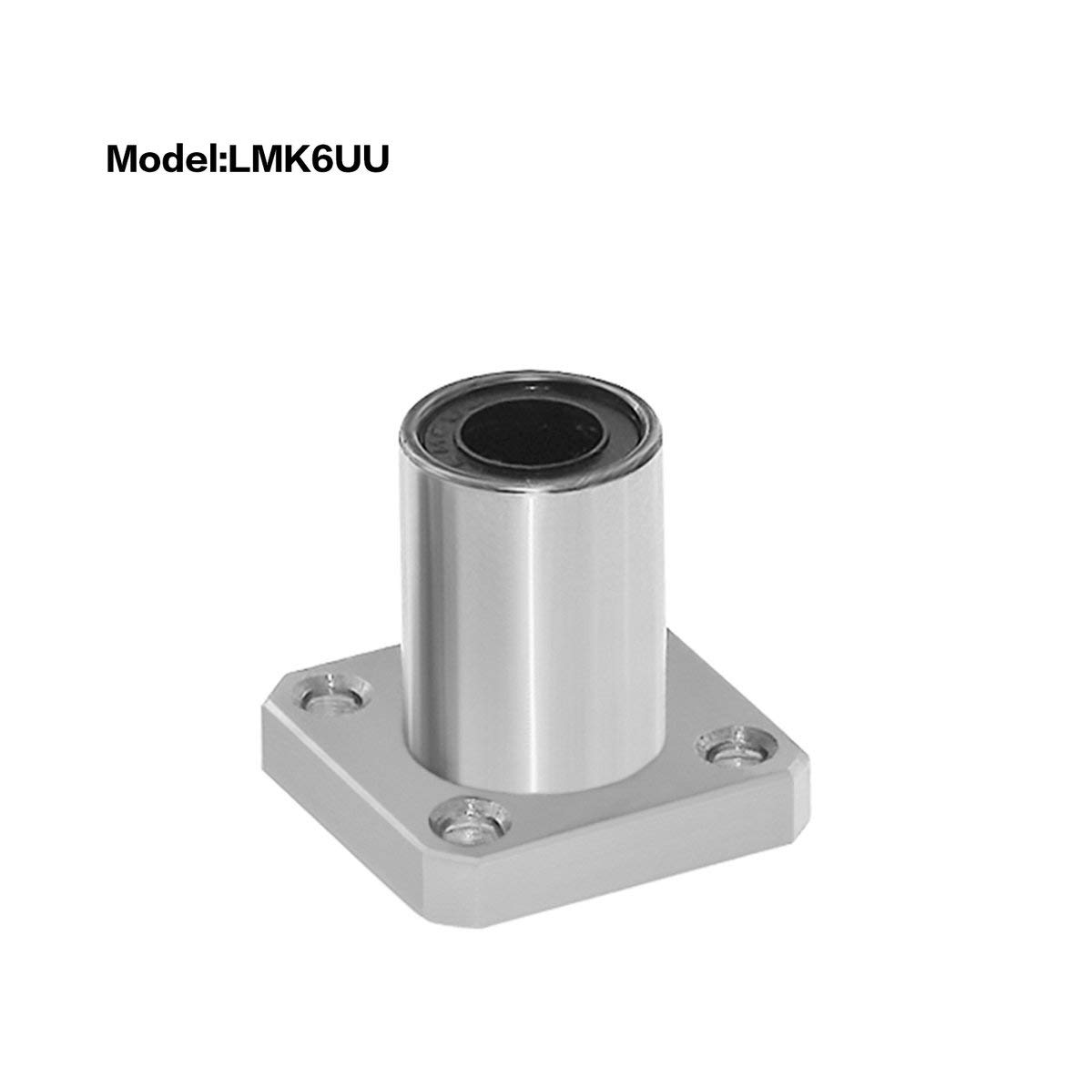 1PC LMK6UU dr:6mm Square Flange Type Linear Bearing Bushings for 3D Printer Linear Rod Stick Electric Tool CNC Parts