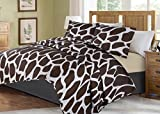 no!no! Printed Animal Designs Bedspread Coverlet Quilt Set with Pillow Shams Animal 1# Size Queen