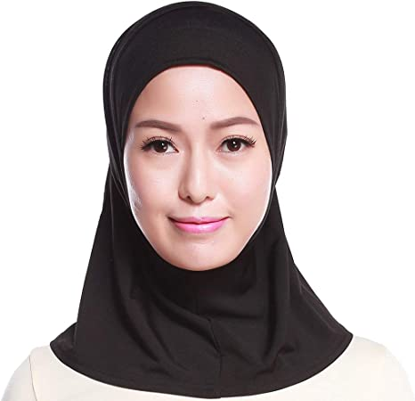 FlYHIGH - Mini pañuelo de Cabeza de hiyab para Mujer, de algodón musulmán, Color sólido, Cobertura Total, Interior islámico, Chal, Turbante, Gorro, Gorra: Amazon.es: Hogar