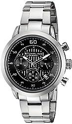 Stuhrling Original Men's 816.02 Monaco Stainless Steel Bracelet Watch with Black Dial