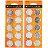 EmazingLights CR2450 Batteries (20 Pack) 3 Volt Button Cell Lithium