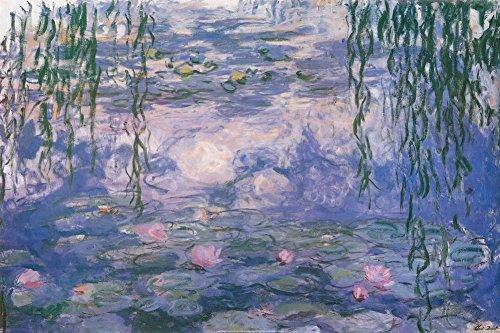 Nympheas by Claude Monet - 24 x 36 inches - Fine Art Print / Poster Poster Print by Claude Monet, 36x24 Poster Print by Claude Monet, 36x24