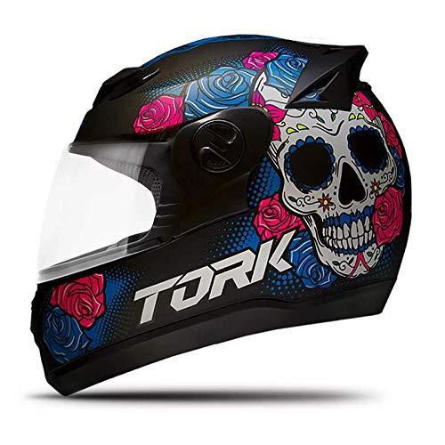 Pro Tork Capacete Evolution G7 Mexican Skull Fosco 56 Preto Fosco