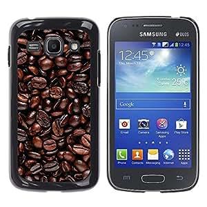 EJOY---Cubierta de la caja de protección la piel dura para el / Samsung Galaxy Ace 3 / --Granos de café