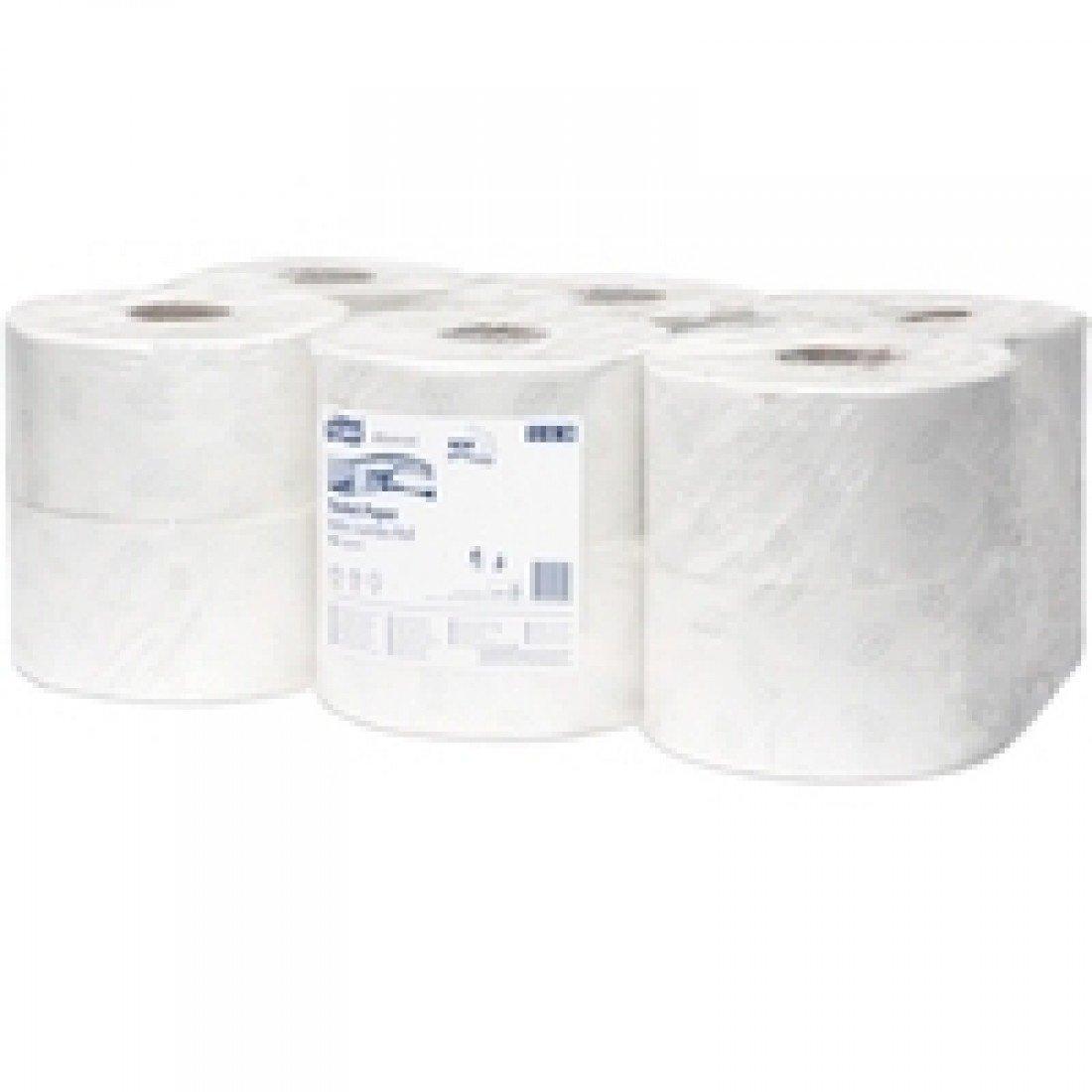 Tork 120238 Advanced Mini Jumbo Toilet Roll, 2-Ply (Pack of 12) - white SCA