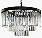 Lumos 7 Lights Luxury Modern/Contemporary Crystal Chandelier Ceiling Light Pendant Light for Dining Room, Living Room … (6 lights) (6 Lights)