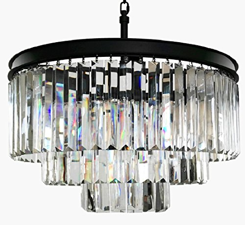 Lumos 7 Lights Luxury Modern/Contemporary Crystal Chandelier Ceiling Light Pendant Light for Dining Room, Living Room … (6 lights) (6 Lights) by Lumos
