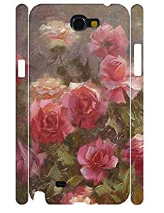 Charming Rose Pattern Individualized High Impact Samsung Galaxy Note 2 N7100 Phone Case