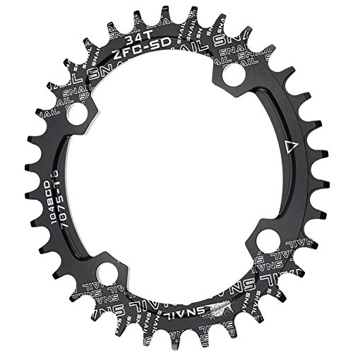 Narrow Wide Chainring Oval 104BCD 34T CYSKY 4 Bolts Bike Single Speed Chainring Perfect for Most Bicycle Road Bike Mountain Bike BMX MTB Fixie Track Fixed-Gear Bicycle (Single Speed Mtb)