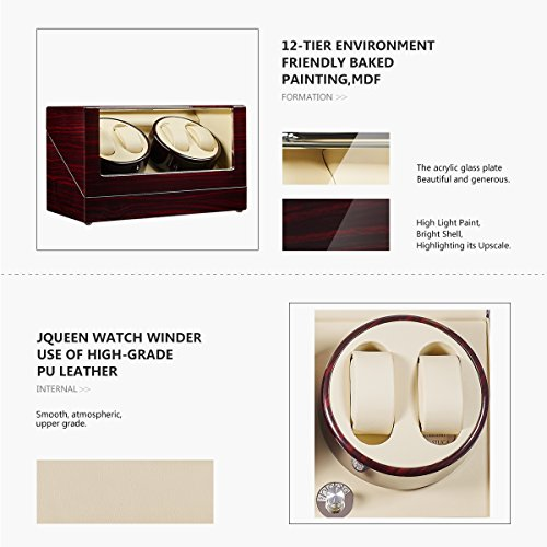 JQUEEN Automatic Quad Watch Winder with Double Quiet Mabuchi Motors by JQUEEN (Image #6)
