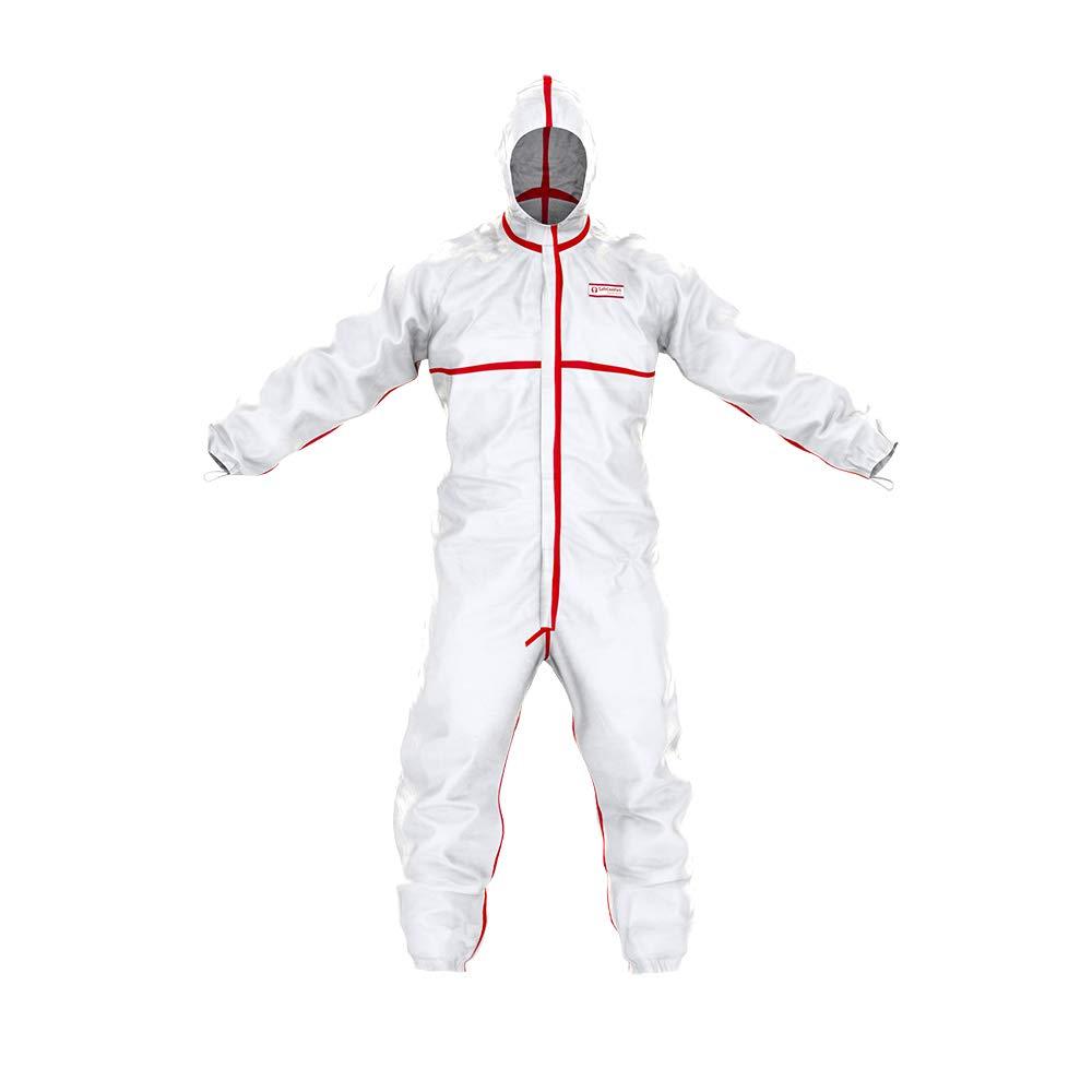 Combinaison de Protection Chimique SafeComfort modè le T | PPE Cat. III Type 4/5/6, avec Capuche, Coutures é tanches, Fermeture é clair bidirectionnelle, é tanche aux Particules et aux pulvé risations (S) Coutures étanche