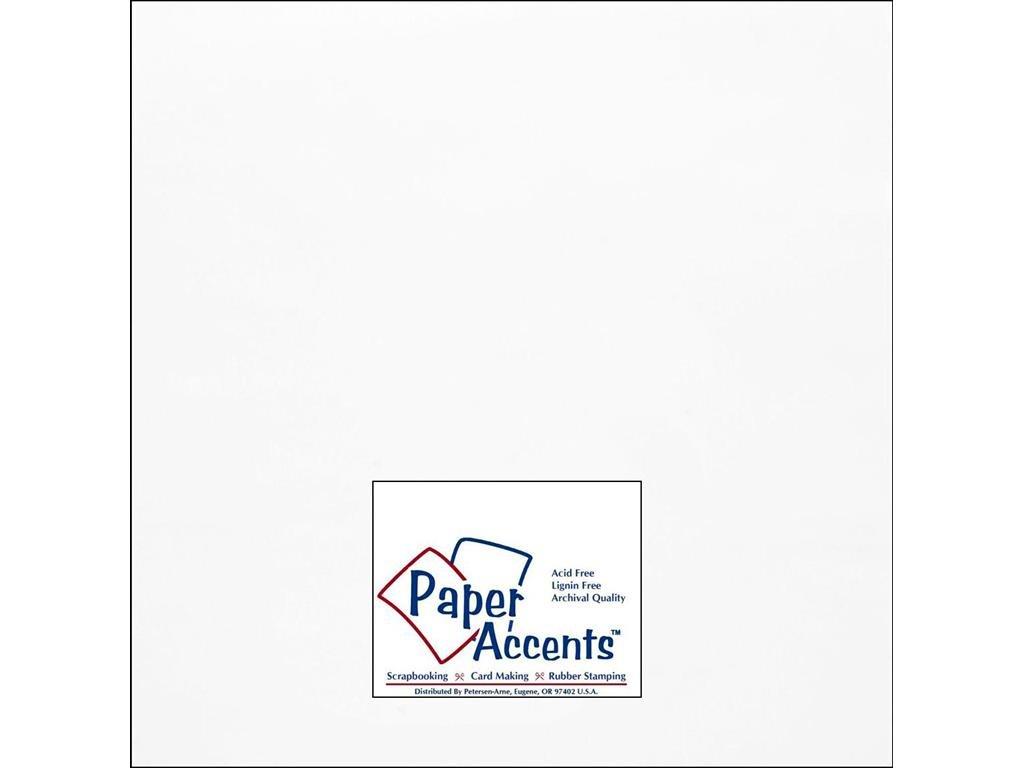 Accent Design Paper Accents ADP1212-5.9101 12 x 12 Onion Skin White Chipboard