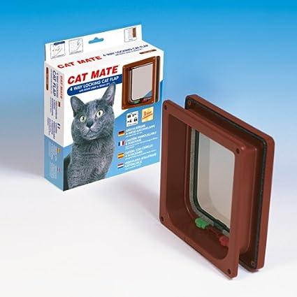 CAT MATE Gatera para gatos 4 Vias marron de 50 mm (modelo 235B