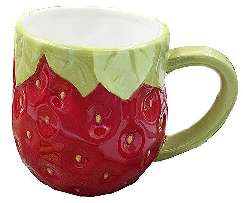 (3D Ceramics Fruit/Animal Handwork Coffee Mug Water Tea Cup - Pig/Panda/Fox/Strawberry/Pineapple/Mermaid)