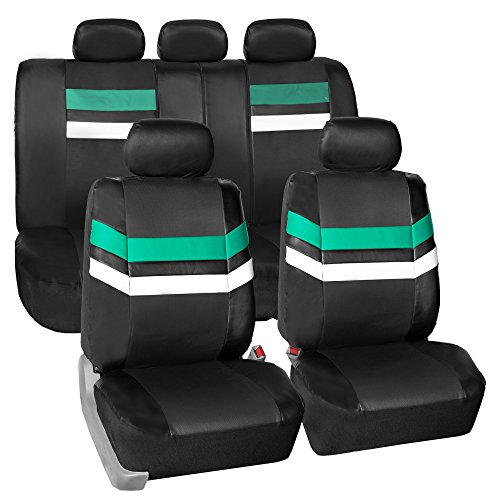 FH Group Leather Full Set Seat Covers Mint Airbag Safe PU006MINT115 & Split Bench Ready