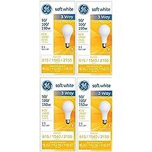 GE 97494 Lighting 50/100/150-Watt, 3-Way Light Bulb, Soft White, 4-Pack
