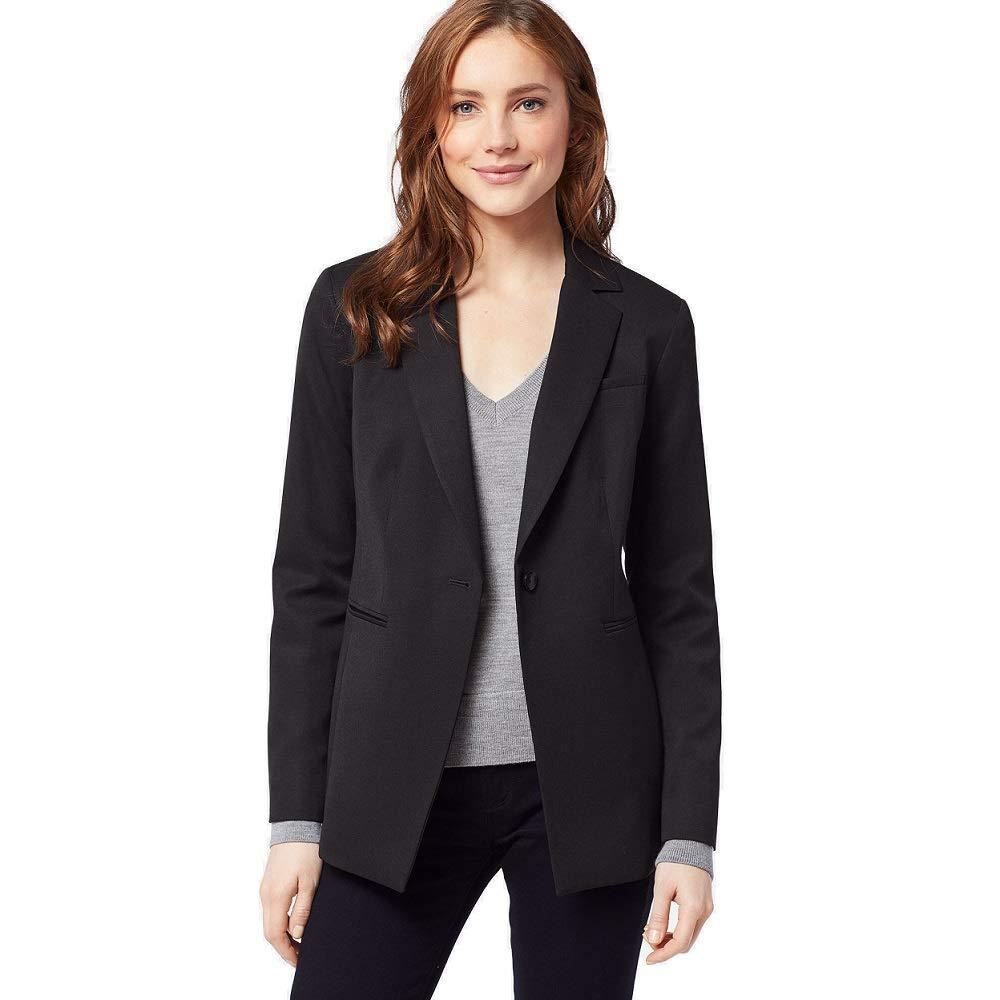 Pendleton Womens Petite One Button Wool Gabardine Jacket