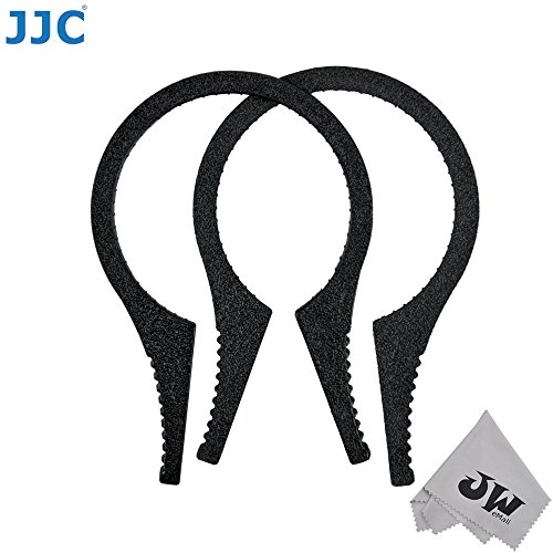 JW FW-3746 2pcs ABS Camera Lens Filter Wrench Disassemble Removal Tool Kit For 37mm 40.5mm 43mm 46mm MCUV UV CPL ND Filters+JW emall Micro Fiber Cleaning Cloth