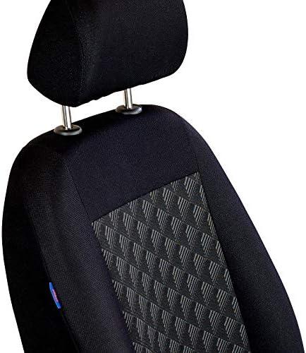Noir Effet 3d HOUSSES de Siège pour Renault Kangoo Voiture Complet
