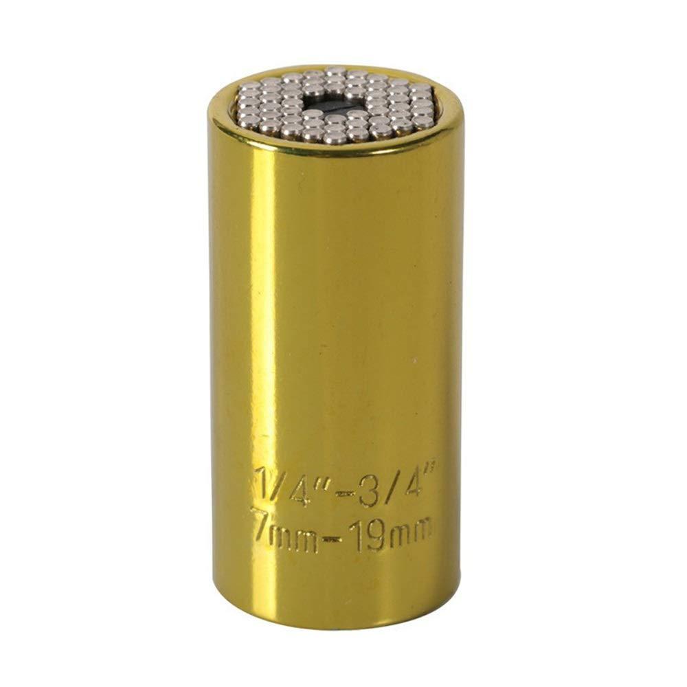 Llave inglesa de 7 a 19 mm con adaptador de taladro el/éctrico plateado