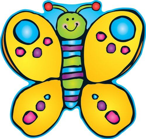 Carson Dellosa D.J. Inkers Butterfly Two-Sided Decoration (688021)