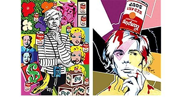 American Artist Juan Carlos Espejo ANDY WARHOL 3D Lenticular Postcards -