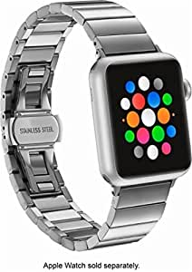 Platinum - Link Stainless Steel Band for Apple Watch 38mm - Silver