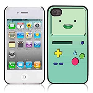 Beemo Adventure Time Hard Plastic and Aluminum Back Case for Apple iphone 4 4S