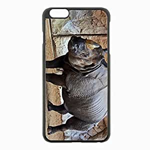 For Case Iphone 5/5S Cover Black Hardshell Case 5.5inch - rhino equine sand rocks reserve Desin Images Protector Back Cover