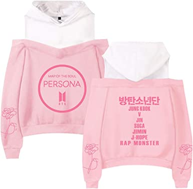 BTS Map of The Soul Persona Sudadera Sin Hombros Mujer Sueter ...