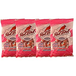 Red Bird Soft Puffs Multipack of 4 4Oz Bags (4 Cotton Candy)