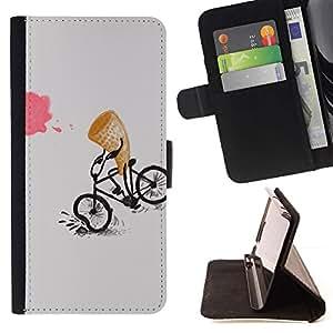 For Samsung Galaxy Note 5 5th N9200 Case , Helado de dibujos animados divertido de los cabritos- la tarjeta de Crédito Slots PU Funda de cuero Monedero caso cubierta de piel