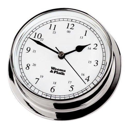 Endurance 085 Clock - WEEMS & PLATH Endurance Collection 085 Quartz Clock (Chrome)