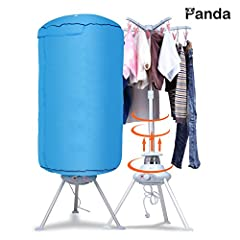 This portable ventless Folding clothes dryer safely but gently dries your clothes using a warm air motor that evens out creases and leaves your garments feeling fresh, clean and soft. This dryer with high performance makes ironing easier mini...