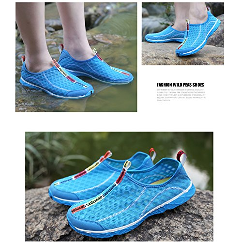 Shoes New Pool On Lightweight Women Men Summer Drying Breathable for Beach Trainer Slip Aqua SAGUARO Water Blue Quick Mesh XqtwTpf