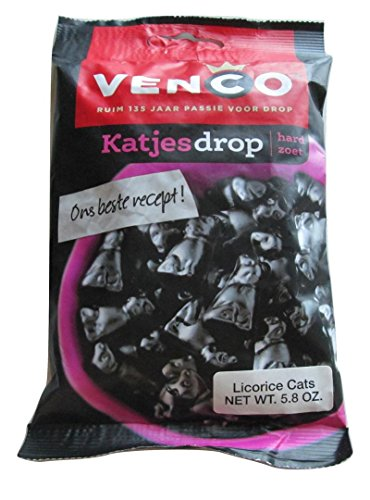 Venco Licorice Cats - Katjesdrop 5.8 Oz (Pack of 2) (Licorice Gift)
