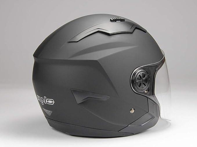 Bno Jethelm Mit Langvisier Jet300 Motorradhelm Roller Helm Schutzhelm Matt Schwarz S Xxl S Auto