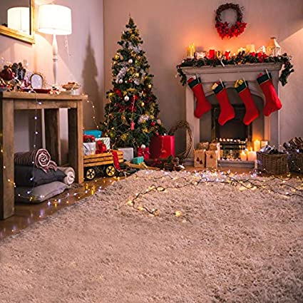 leowefowa merry christmas backdrop 8x8ft vinyl photography background christmas decorations indoor christmas tree decorations fireplace christmas - Amazon Christmas Decorations Indoor