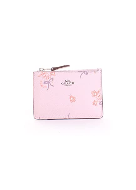76e6308073c94 Coach Mini Skinny ID Case With Floral Bow Print in Ice Pink/Silver:  Amazon.ca: Clothing & Accessories