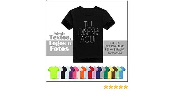 Camiseta Personalizada Vinilo con un Texto o dos: Amazon.es: Deportes y aire libre