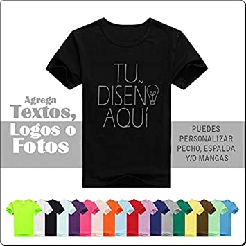 Camiseta Personalizada Vinilo con un Texto o dos