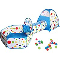 3 in 1 Kids Play Tent Toddler Tunnel Balls Pit Pop Up Playhouse Portable Children Playground Cubby For Indoor Outdoor