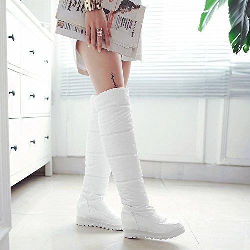 Hacia KHSKX Deslizamiento Altas Aumento Con De Nieve De De Botas Botas Abajo Zapatos Invierno Overknee Agua white De Botas Gruesas TpaTBSqn