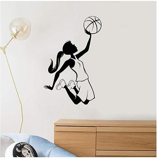Chica adolescente Jugador de baloncesto Deportes Vinilo Tatuajes ...