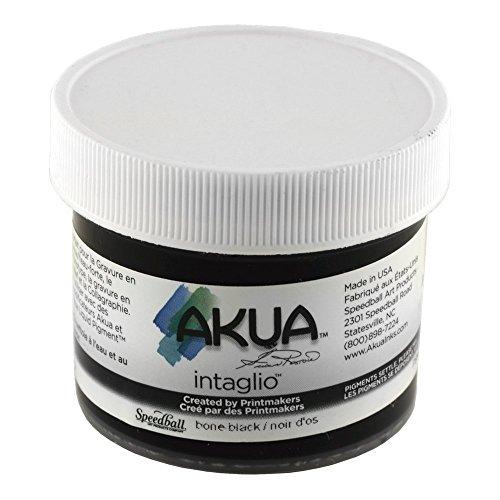 Akua Intaglio Print Making Ink, 2 oz Jar, Bone Black (IIBB2) by Akua